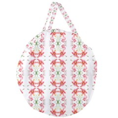 Tigerlily Giant Round Zipper Tote by humaipaints