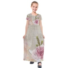 Scrapbook 1133667 1920 Kids  Short Sleeve Maxi Dress