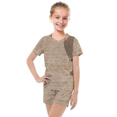 Letter Balloon Kids  Mesh Tee And Shorts Set