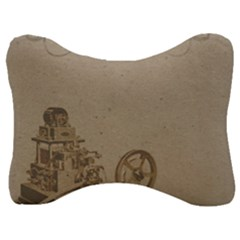 Camera Old Velour Seat Head Rest Cushion