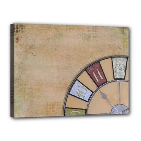 Circle Canvas 16  X 12  (stretched) by vintage2030
