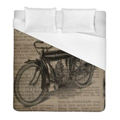 Bicycle Letter Duvet Cover (full/ Double Size) by vintage2030