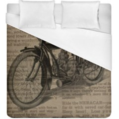 Bicycle Letter Duvet Cover (king Size) by vintage2030