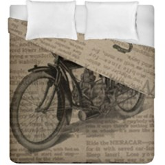 Bicycle Letter Duvet Cover Double Side (king Size) by vintage2030