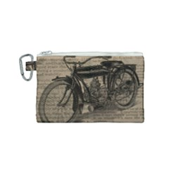 Bicycle Letter Canvas Cosmetic Bag (small)