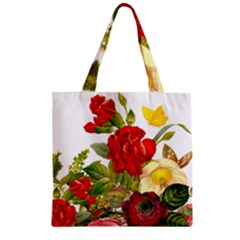 Flower Bouquet 1131891 1920 Zipper Grocery Tote Bag by vintage2030