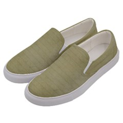 Old Letter Men s Canvas Slip Ons by vintage2030
