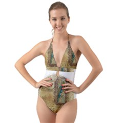 Tag 1763336 1280 Halter Cut-Out One Piece Swimsuit