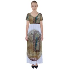 Tag 1763336 1280 High Waist Short Sleeve Maxi Dress
