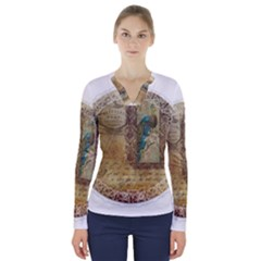 Tag 1763336 1280 V Neck Long Sleeve Top