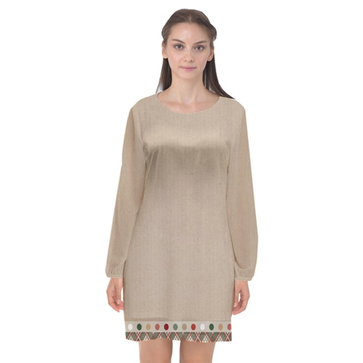 Background 1706649 1920 Long Sleeve Chiffon Shift Dress