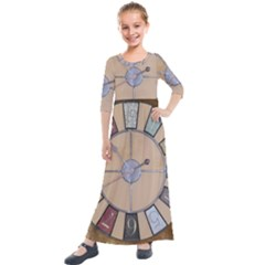Collage 1706638 1920 Kids  Quarter Sleeve Maxi Dress by vintage2030