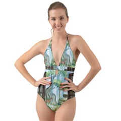 Town 1660349 1280 Halter Cut Out One Piece Swimsuit