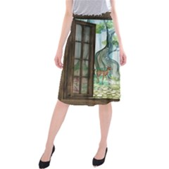 Town 1660349 1280 Midi Beach Skirt by vintage2030