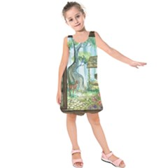 Town 1660349 1280 Kids  Sleeveless Dress