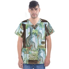 Town 1660349 1280 Men s V-Neck Scrub Top