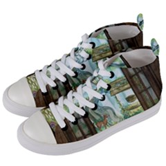 Town 1660349 1280 Women s Mid-Top Canvas Sneakers