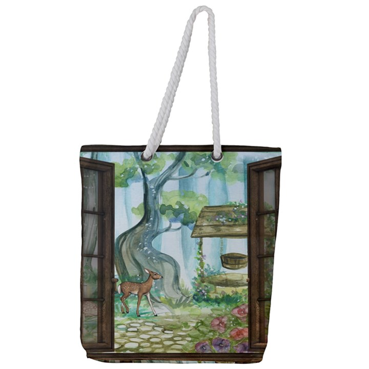 Town 1660349 1280 Full Print Rope Handle Tote (Large)