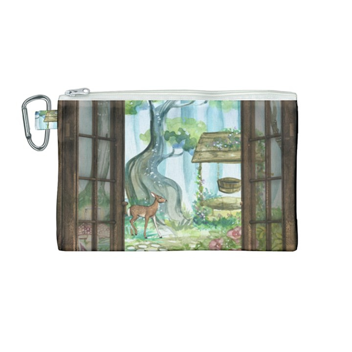 Town 1660349 1280 Canvas Cosmetic Bag (Medium)