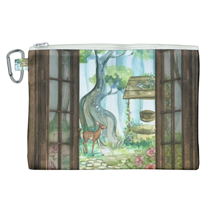 Town 1660349 1280 Canvas Cosmetic Bag (XL)