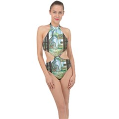 Town 1660349 1280 Halter Side Cut Swimsuit