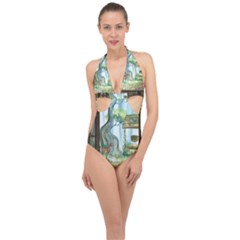 Town 1660349 1280 Halter Front Plunge Swimsuit