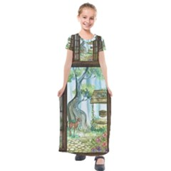Town 1660349 1280 Kids  Short Sleeve Maxi Dress