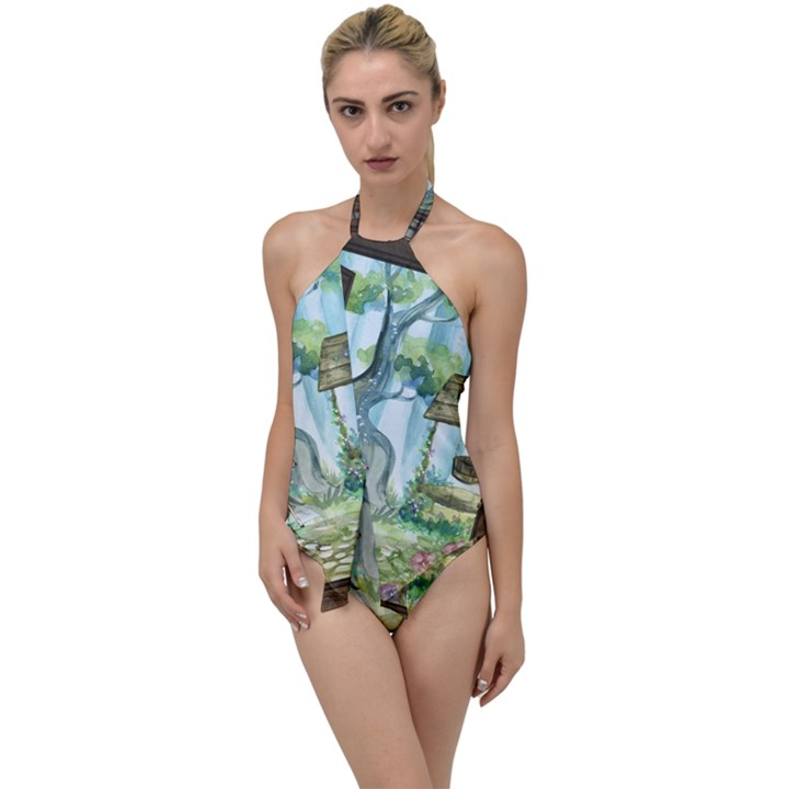 Town 1660349 1280 Go with the Flow One Piece Swimsuit