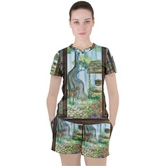 Town 1660349 1280 Women s Tee And Shorts Set