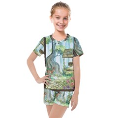 Town 1660349 1280 Kids  Mesh Tee And Shorts Set