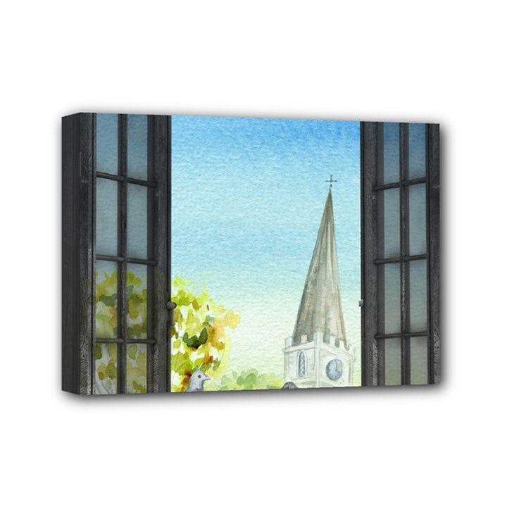 Town 1660455 1920 Mini Canvas 7  x 5  (Stretched)