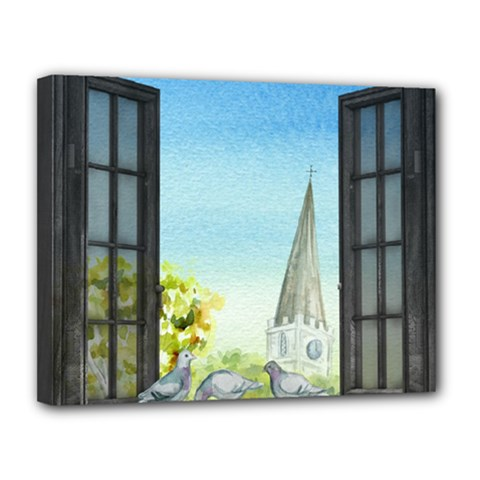 Town 1660455 1920 Canvas 14  X 11  (stretched)