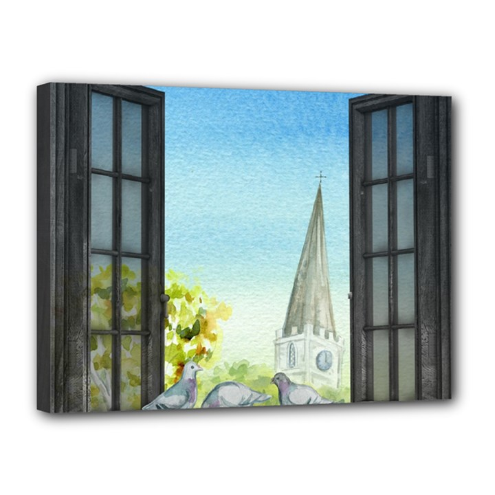 Town 1660455 1920 Canvas 16  x 12  (Stretched)