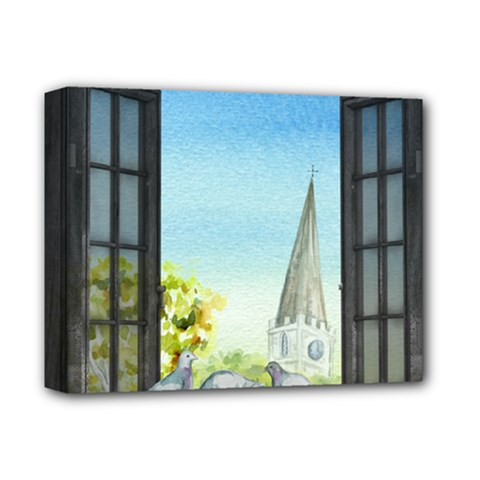 Town 1660455 1920 Deluxe Canvas 14  X 11  (stretched) by vintage2030