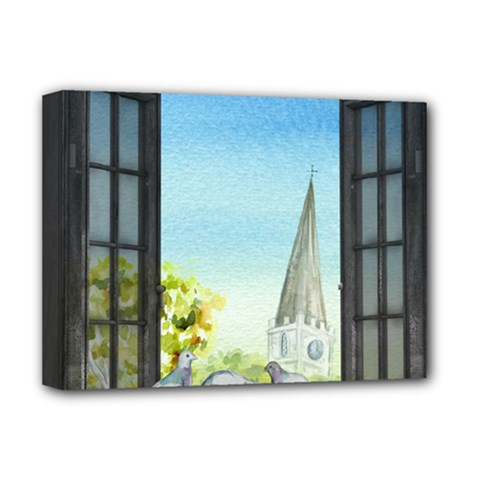 Town 1660455 1920 Deluxe Canvas 16  X 12  (stretched)  by vintage2030