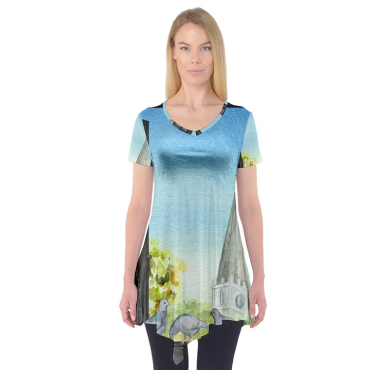Town 1660455 1920 Short Sleeve Tunic