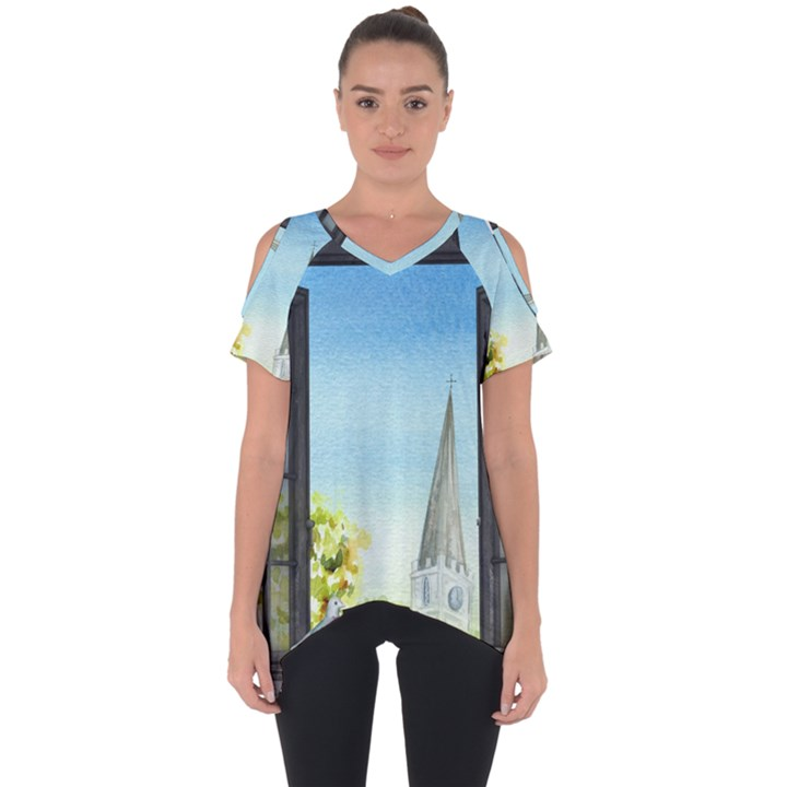 Town 1660455 1920 Cut Out Side Drop Tee