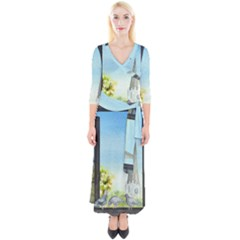 Town 1660455 1920 Quarter Sleeve Wrap Maxi Dress by vintage2030