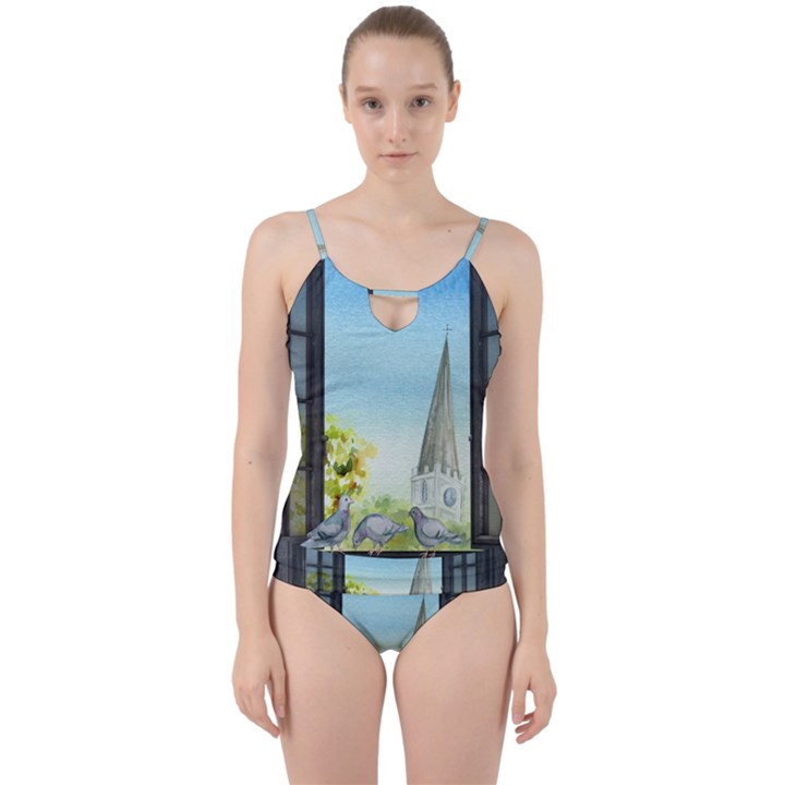 Town 1660455 1920 Cut Out Top Tankini Set