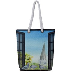 Town 1660455 1920 Full Print Rope Handle Tote (small)