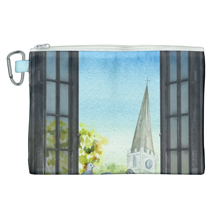 Town 1660455 1920 Canvas Cosmetic Bag (XL)