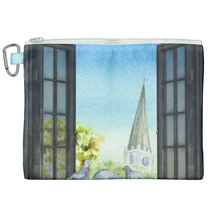 Town 1660455 1920 Canvas Cosmetic Bag (XXL)
