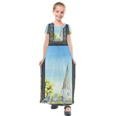 Town 1660455 1920 Kids  Short Sleeve Maxi Dress