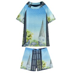 Town 1660455 1920 Kids  Swim Tee And Shorts Set