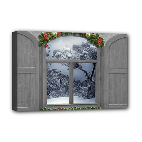 Winter 1660924 1920 Deluxe Canvas 18  X 12  (stretched)