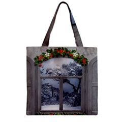 Winter 1660924 1920 Zipper Grocery Tote Bag