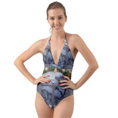 Winter 1660924 1920 Halter Cut-Out One Piece Swimsuit