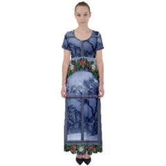 Winter 1660924 1920 High Waist Short Sleeve Maxi Dress
