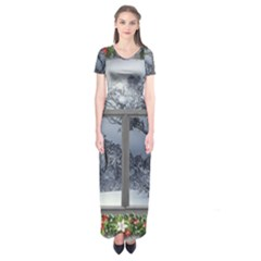 Winter 1660924 1920 Short Sleeve Maxi Dress