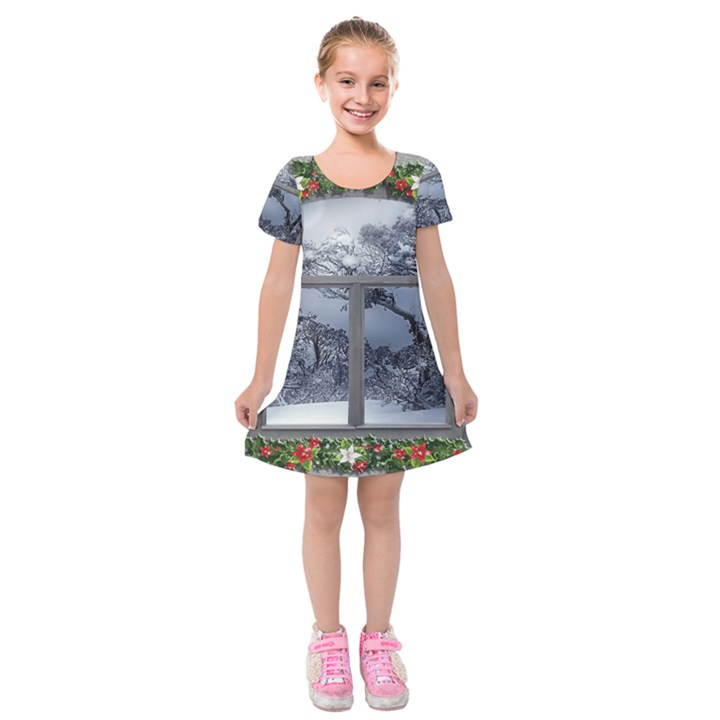 Winter 1660924 1920 Kids  Short Sleeve Velvet Dress
